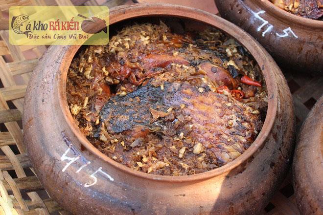 Món cá kho làng Vũ Đại có hương vị thơm ngon